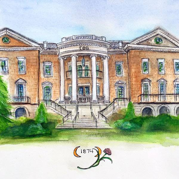 Wall Art - Painting - Gamma Phi Beta by Starr Weems