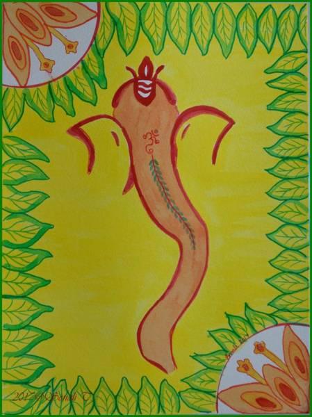 Ganesh Chaturthi Painting - Ganadevta by Sonali Gangane