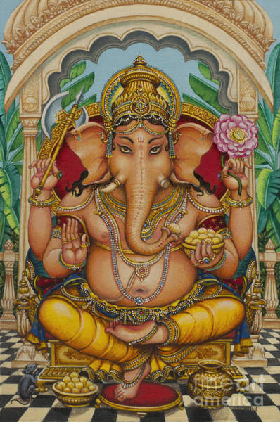 Wall Art - Painting - Ganapati Darshan by Vrindavan Das
