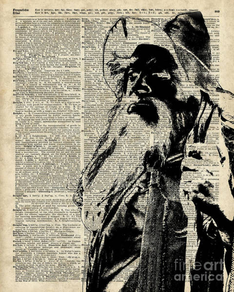 Wall Art - Digital Art - Gandalf Wizard Over Vintage Encyclopedia Book Page,lord Of The Rings,hobbit,tolkien by Anna W