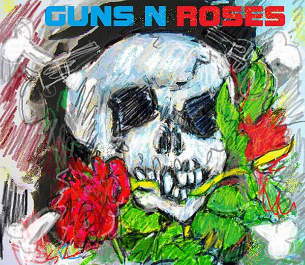 Guns And Roses Painting - Gandr Redux by Samuel Zylstra