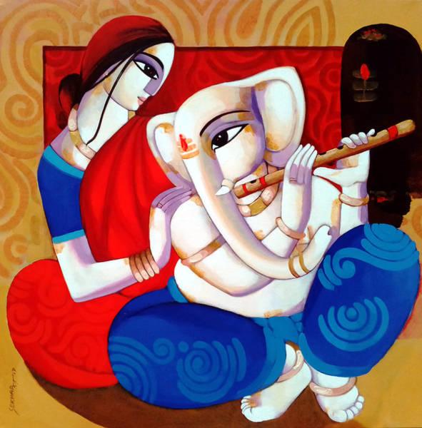 Painting - Ganesh Janani by Sekhar Roy
