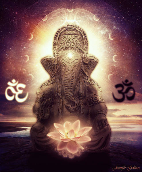 Om Wall Art - Digital Art - Ganesh by Jennifer Gelinas