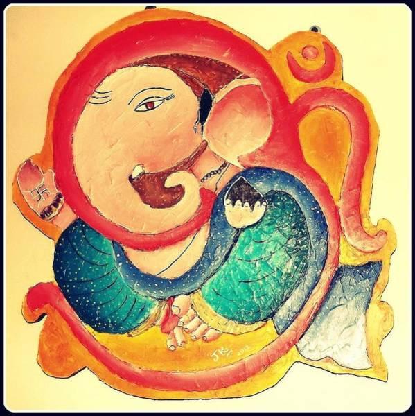 Ganesh Chaturthi Painting - Ganesha 2 by Jagjeet Kaur