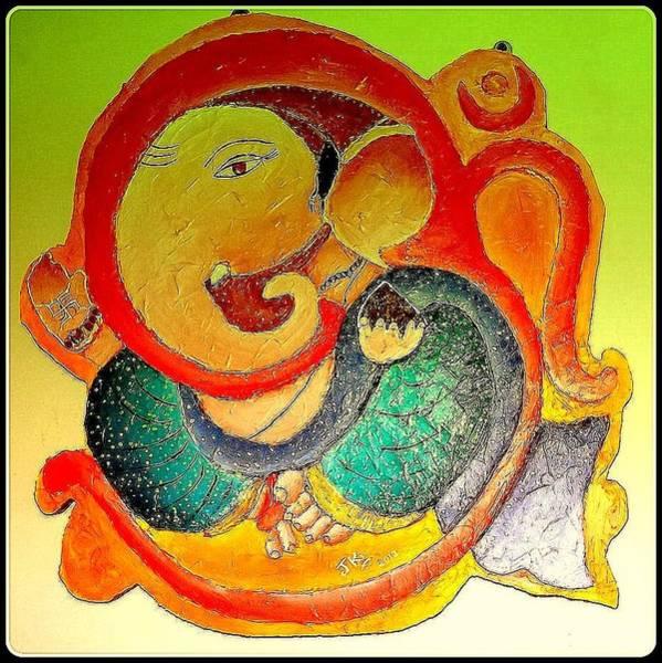 Ganesh Chaturthi Painting - Ganesha 6 by Jagjeet Kaur