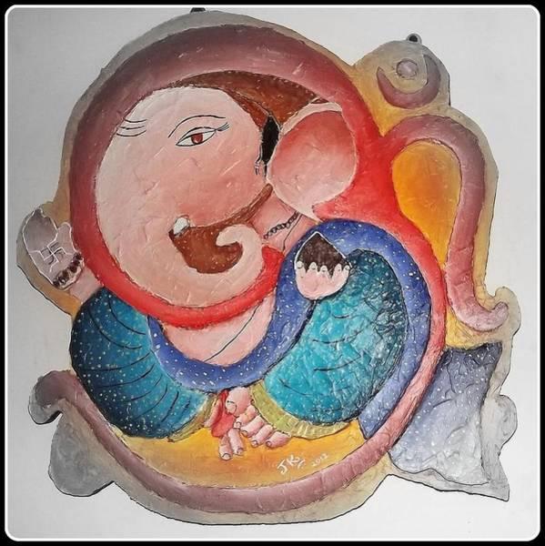 Ganesh Chaturthi Painting - Ganesha 9 by Jagjeet Kaur