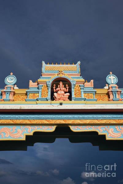 Photograph - Ganesha Archway Puttaparthi by Tim Gainey