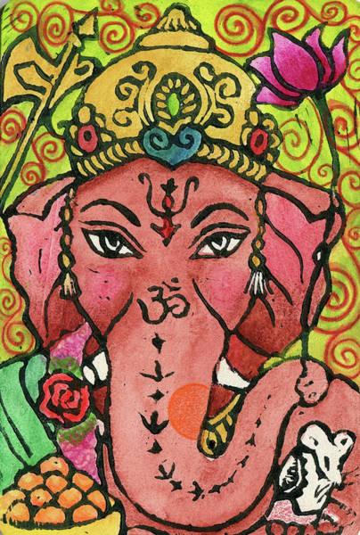 Sacred Mixed Media - Ganesha Portrait by Jennifer Mazzucco