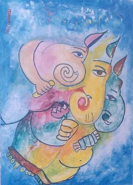 Ganesha Art Print by Rooma Mehra