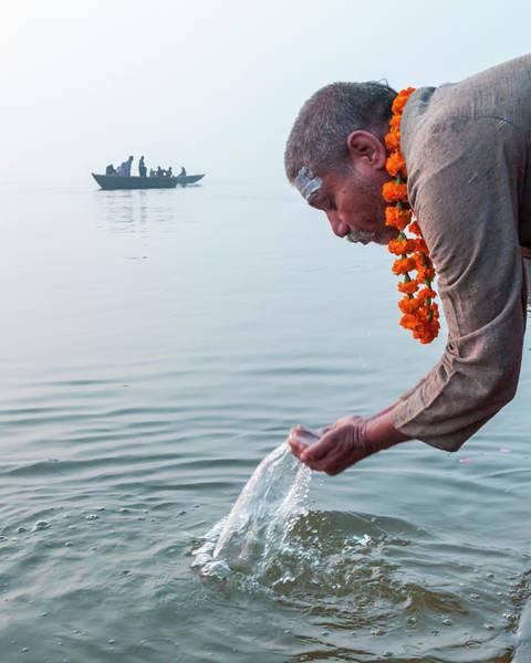 Photograph - Ganga Pooja, Varanasi, India by Mahesh Balasubramanian