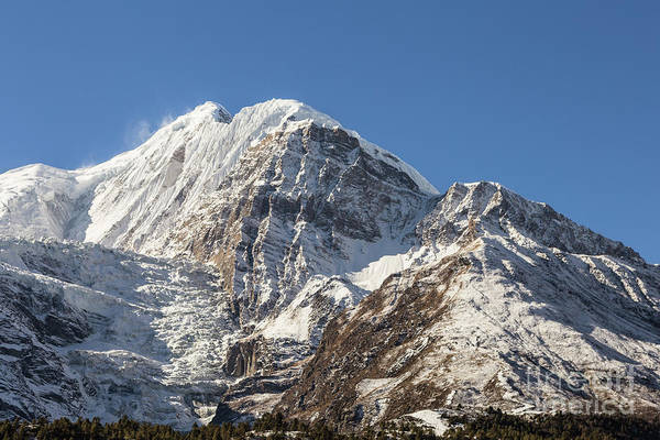Photograph - Gangapurna Peak Along The Annapurna Circuit Trek In Nepal  by Didier Marti
