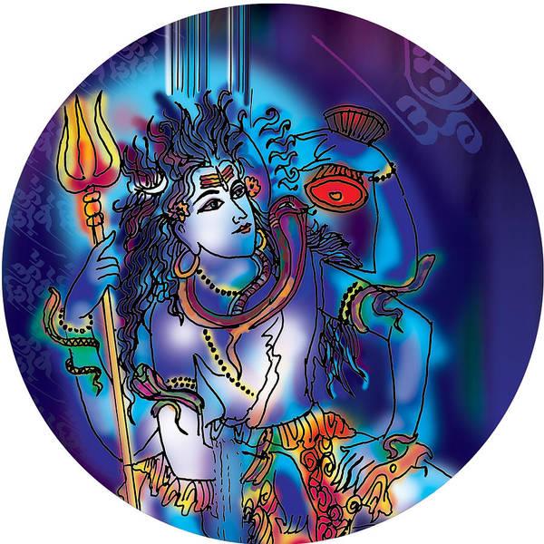 Painting - Gangeshvar Shiva by Guruji Aruneshvar Paris Art Curator Katrin Suter