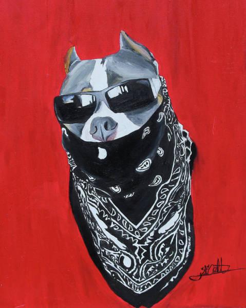 Bully Painting - Gangster Beastro  by Kierstin Arnett