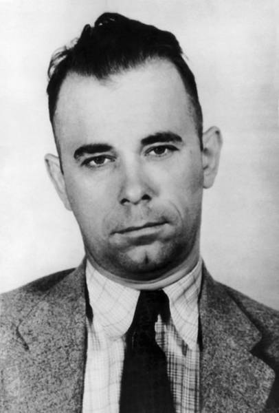 Robbers Photograph - Gangster John Dillinger  by War Is Hell Store