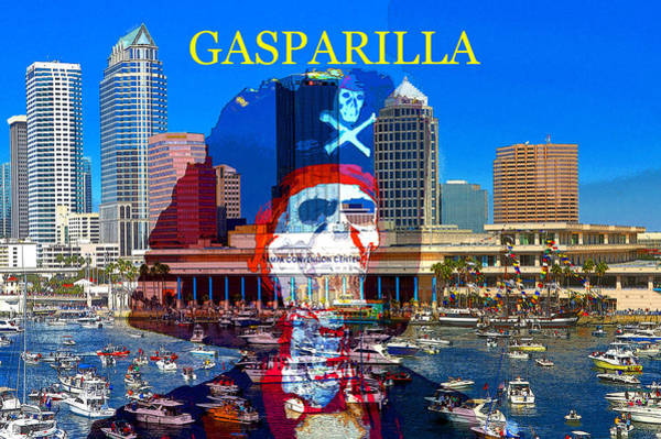 Annual Painting - Gaparilla Invasion Poster Z by David Lee Thompson
