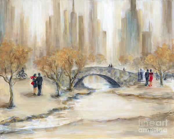 Central New York Painting - Gapstow Bridge And Lovers by Marilyn Dunlap