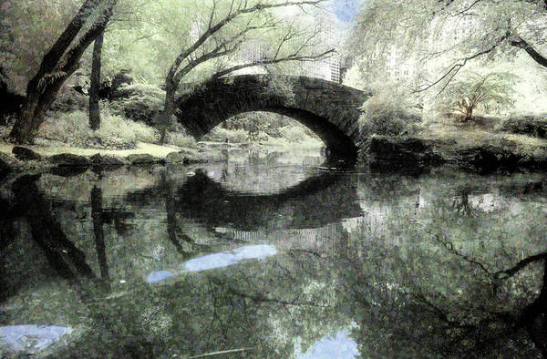 Photograph - Gapstow Bridge Cubist by Dave Beckerman