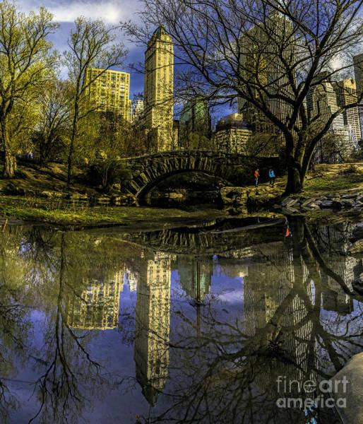 Photograph - Gapstow Bridge In Central Park by Nick Zelinsky