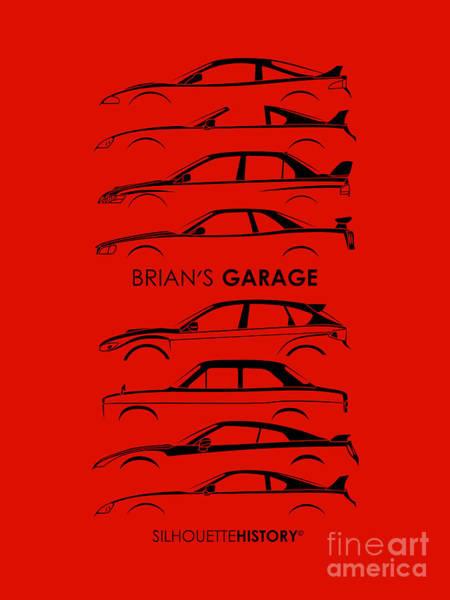 Wall Art - Digital Art - Garage Of Brian Silhouettehistory by Gabor Vida