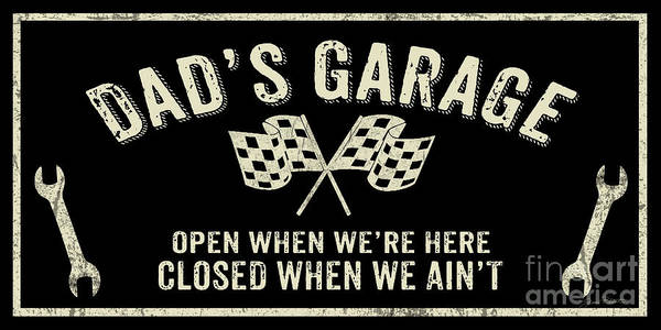 Wall Art - Digital Art - Garage Sign Collection-b by Jean Plout