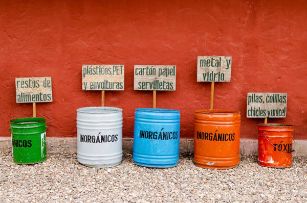 Photograph - Garbage Sorting At The Cafe At El Charco Del Ingenio by Rob Huntley