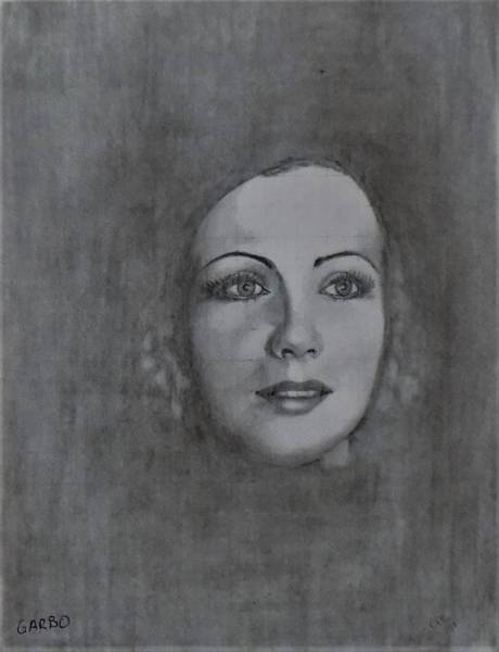 Drawing - Garbo by Chuck Caputo