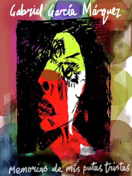 Mixed Media - Garcia Marquez Putas Poster  by Paul Sutcliffe