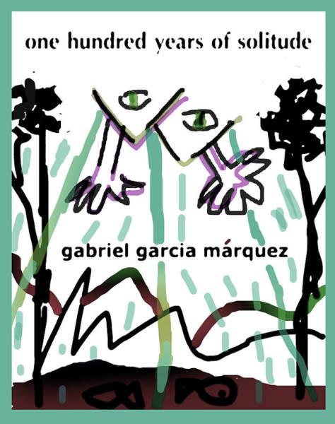 Drawing - Garcia Marquez Solitude 2  by Paul Sutcliffe