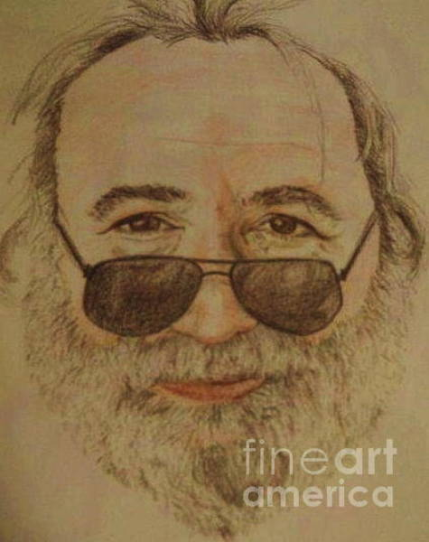 Deadhead Wall Art - Drawing - Garcia Sketch by Meg Goff