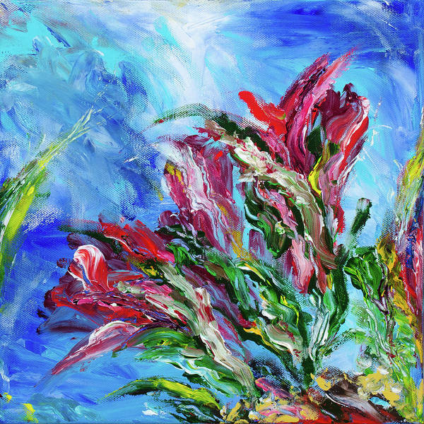 Red Painting - Garden 2 by Brad Wieland