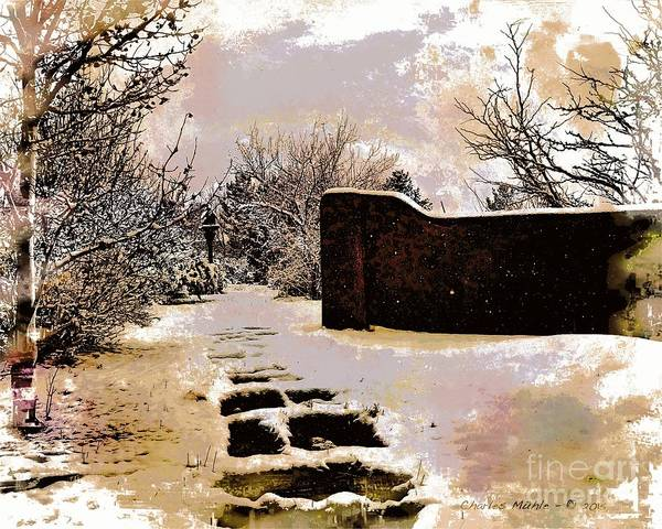 Mixed Media - Garden Art Print  by Charles Muhle