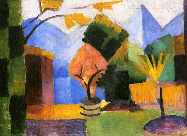 Painting - Garden At Lake Thun by August Macke
