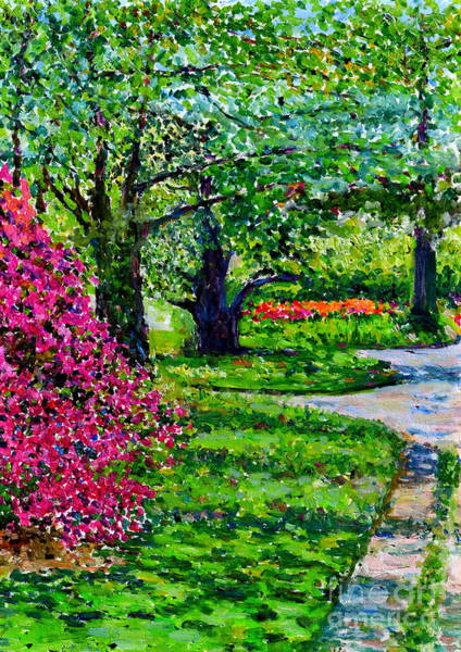 Oak Harbor Painting - Garden At Snug Harbor by Anthony Butera