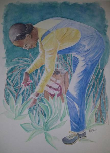 Wall Art - Painting - Garden Bag by Gloria Jones