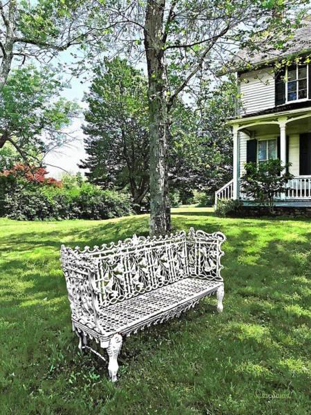 Photograph - Garden Bench by Susan Savad