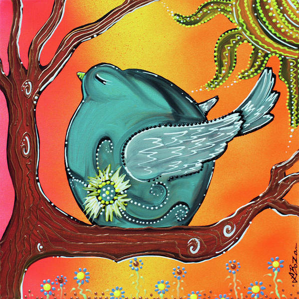 Wall Art - Painting - Garden Bird by Laura Barbosa