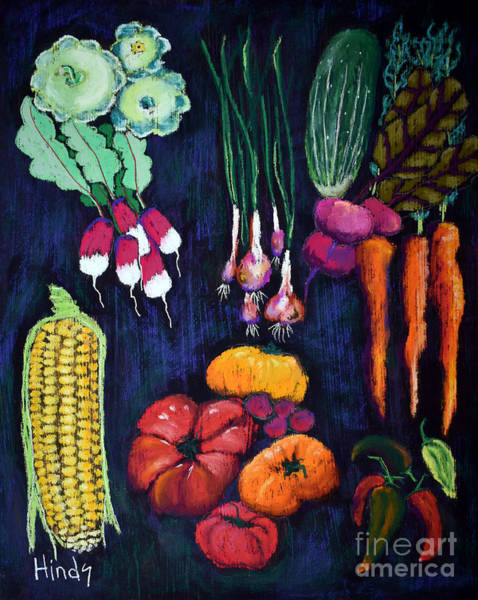 Red Onion Painting - Garden Bounty by David Hinds
