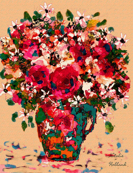 New Leaf Mixed Media - Garden Bouquet by Natalie Holland