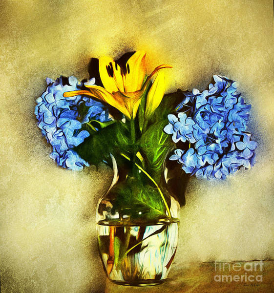 Wall Art - Digital Art - Garden Bouquet  by Tina  LeCour