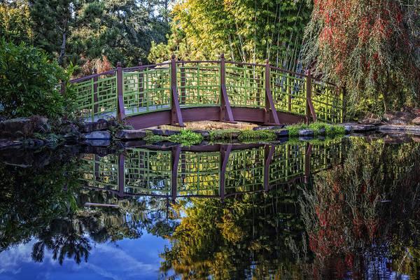 Photograph - Garden Bridge by Debra and Dave Vanderlaan
