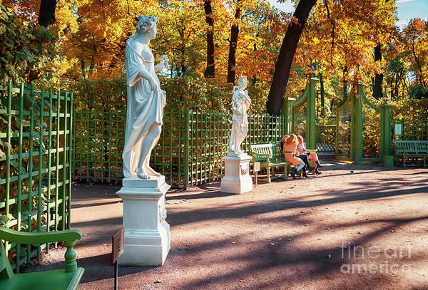 Photograph - garden by autumn in St-Petersburg by Ariadna De Raadt