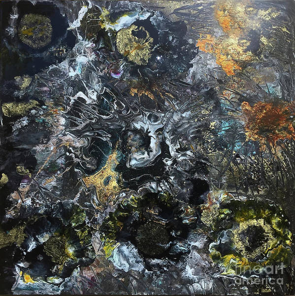 Wall Art - Painting - Garden By Moonlight by Nancy TeWinkel Lauren