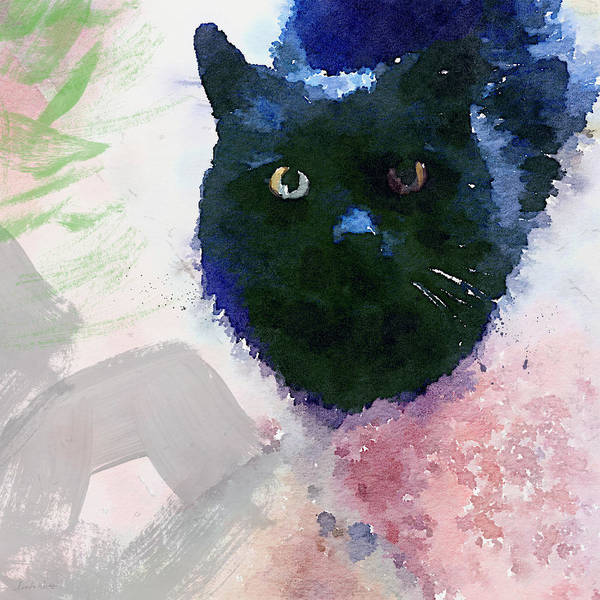 Maine Wall Art - Painting - Garden Cat- Art By Linda Woods by Linda Woods