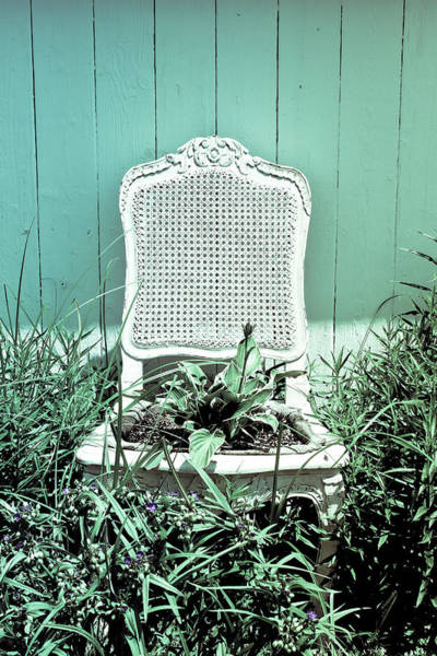 Wall Art - Photograph - Garden Chair - Seafoam by Colleen Kammerer