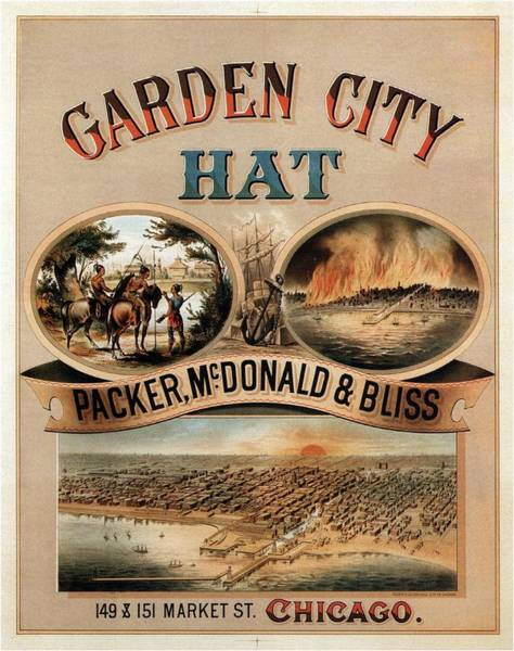 Hat Mixed Media - Garden City Hat - Packer, Mc.donald And Bliss - Chicago - Vintage Advertising Poster by Studio Grafiikka