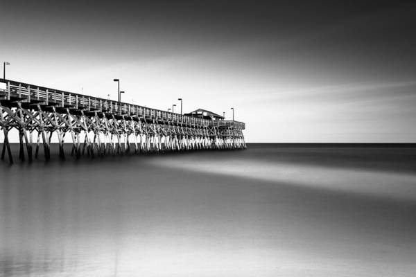 Beach City Photograph - Garden City Pier Bw IIi by Ivo Kerssemakers