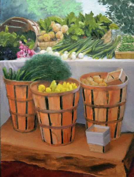 Fruit Stand Wall Art - Painting - Garden Delights by Armand Cabrera