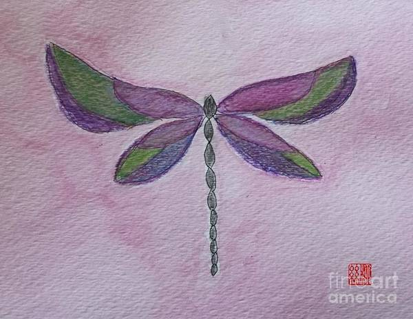 Painting - Garden Dragonfly by Margaret Welsh Willowsilk