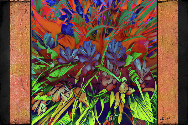 Wild Poppies Digital Art - Garden Escape by Linda Dunn
