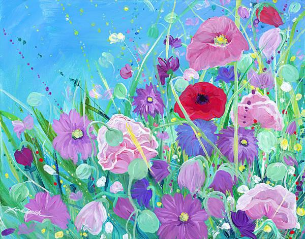 Painting - Garden Fairies by Linda Rauch